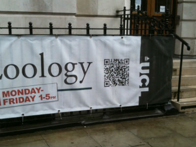 UCL zoology QR code